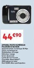 Appareil photo numerique polariod noir offre à 44.9€