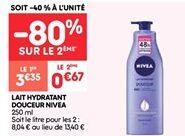 Lait hydratant douceur Nivea offre à 0.67€