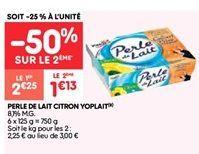 Perle de lait citron yoplait offre à 1.13€