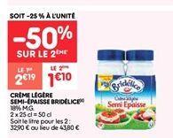 Creme legere fluide bridelice offre à 1.09€