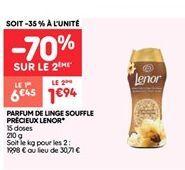 Parfum de linge souffle precieux lenor offre à 1.94€