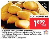 Pommes de terre de consommation offre à 1.99€