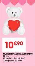 Ours en peluche avec coeur offre à 10.9€