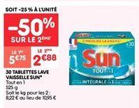 Lave-vaisselle Sun offre à 2.88€