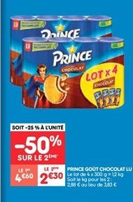 Prince gout chocolat lu offre à 2.3€