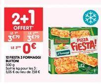 12 fiesta 3 frmaggi offre à 2.53€
