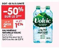 Eau minerale naturelle volvec offre à 2.28€