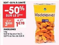 Madeleines offre à 1.77€