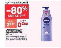 Lait hydratant douceur Nivea offre à 3.29€