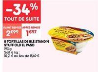 8 tortillas de ble stand'n stuff old el paso offre à 1.97€