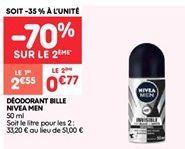 Déodorant bille Nivea offre à 2.55€