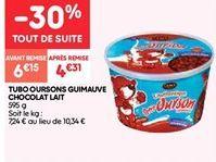 Tubo oursons guimauve chocolat lait offre à 4.3€