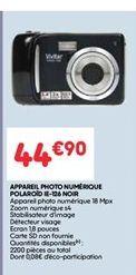 Appareil photo numérique Polaroid noir offre à 44.9€