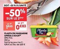 Planta fin margarine omega 3 doux offre à 1.65€