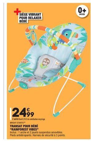 Transat pour bébé rainforest vibes offre à 24.99€
