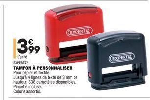 Tampons á personnaliser offre à 3.99€