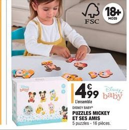 Puzzle mickey et ses amis offre à 4.99€