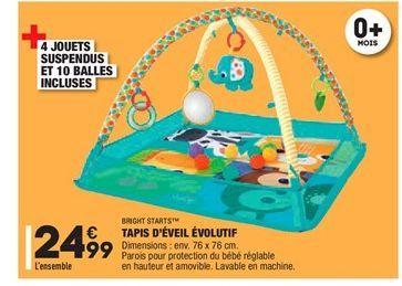 Tapis d´éveil évolutif offre à 24.99€