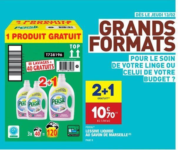 Lessive liquide au savon marseille offre à 7.13€