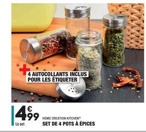 Set de 4 pots à épices offre à 4.99€