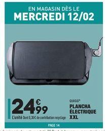Plancha électrique XXL offre à 24.99€