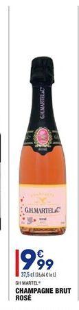 Champagne brut rosé offre à 9.99€