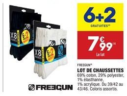 Lot de chaussettes offre à 5.99€