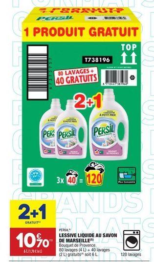 Lessive liquide au savon de marseille offre à 7.13€