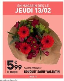 Bouquet saint-velentin  offre à 5.99€