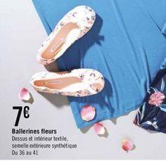 Ballerines fleurs offre à