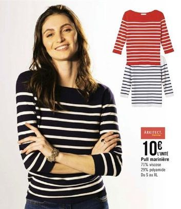 Pull mariniére offre à