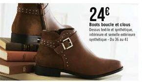 Boots boucle et clous offre à