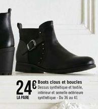 Boots clous et boucles offre à