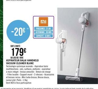 Aspirateur balai Handheld vacuum cleaner offre à