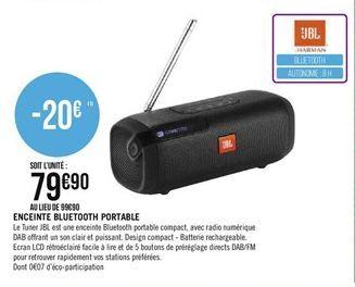 Enceintes bluetooth portable offre à