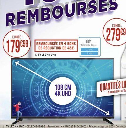Téléviseur LED 4K UHD offre à