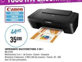 Imprimante multifonction 3 in 1 offre à