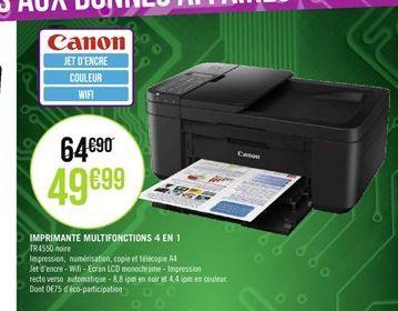 Imprimante multifonction Canon 4 en 1 offre à