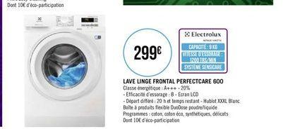 Lave-linge frontal perfectcare 600 offre à