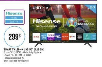 "Smart TV led 4K UHD 50"" offre à"