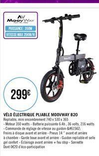 Vélo électrique pliable offre à