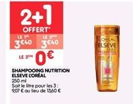 Shampoing nutrition elseve l'oreal  offre à 3.4€