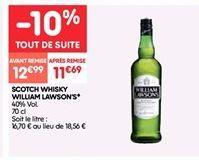 Acotch whisky William Lawson's offre à 12.99€