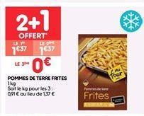 Pommes de terre frites offre à 1.37€