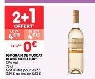 Igp grain de muscat blanc moelleux offre à 4.15€