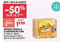 Instant frites la classique mc cain offre à 2.4€