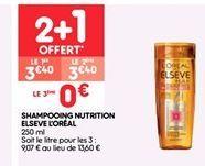 Shampoing nutrition elseve L'Oréal offre à 2.27€