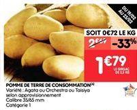 Pommes de terre de consommation offre à 2.69€