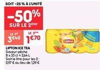 Lipton ice tea offre à 3.4€