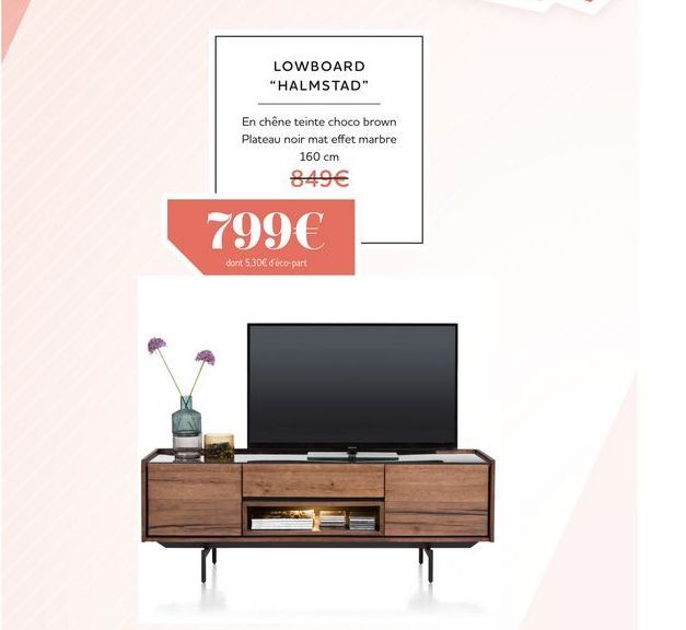 Lowboard HALMSTAD offre à 799€